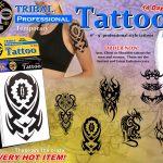 Tribal Temporary Tattoo Display